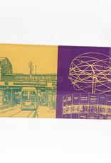 ART-DOMINO® by SABINE WELZ Berlin - Friedrichstrasse + Weltzeituhr