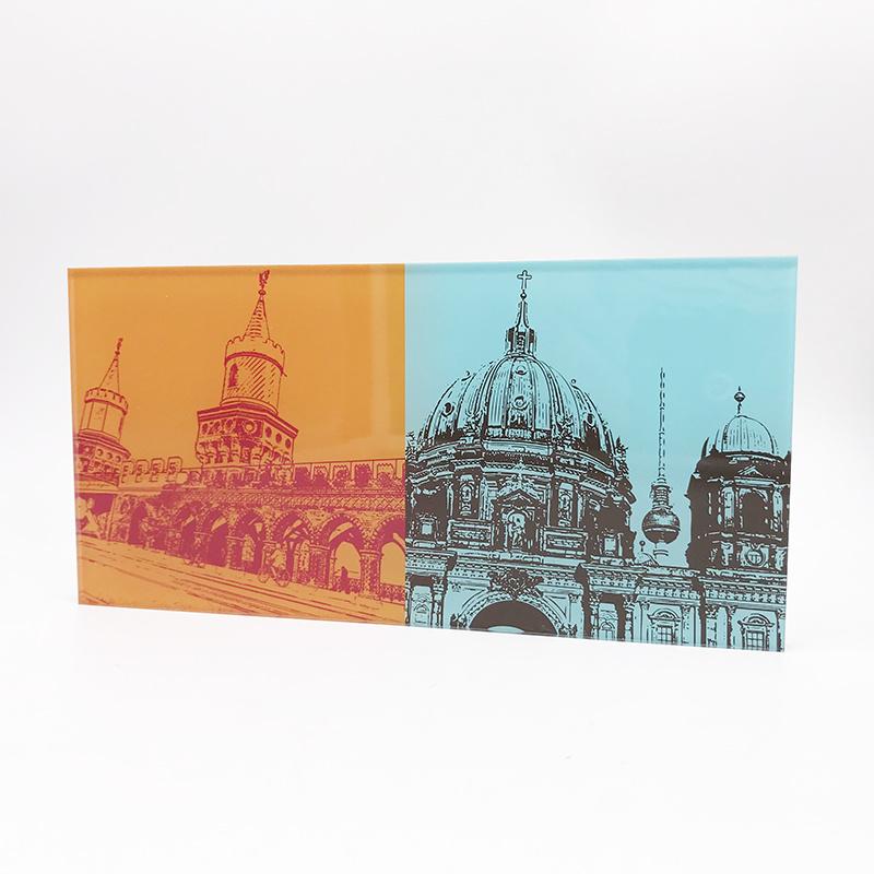 ART-DOMINO® BY SABINE WELZ Berlin - Oberbaumbrücke + Berliner Dom