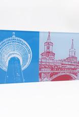 ART-DOMINO® by SABINE WELZ Berlin - TV-Tower + Oberbaumbrücke