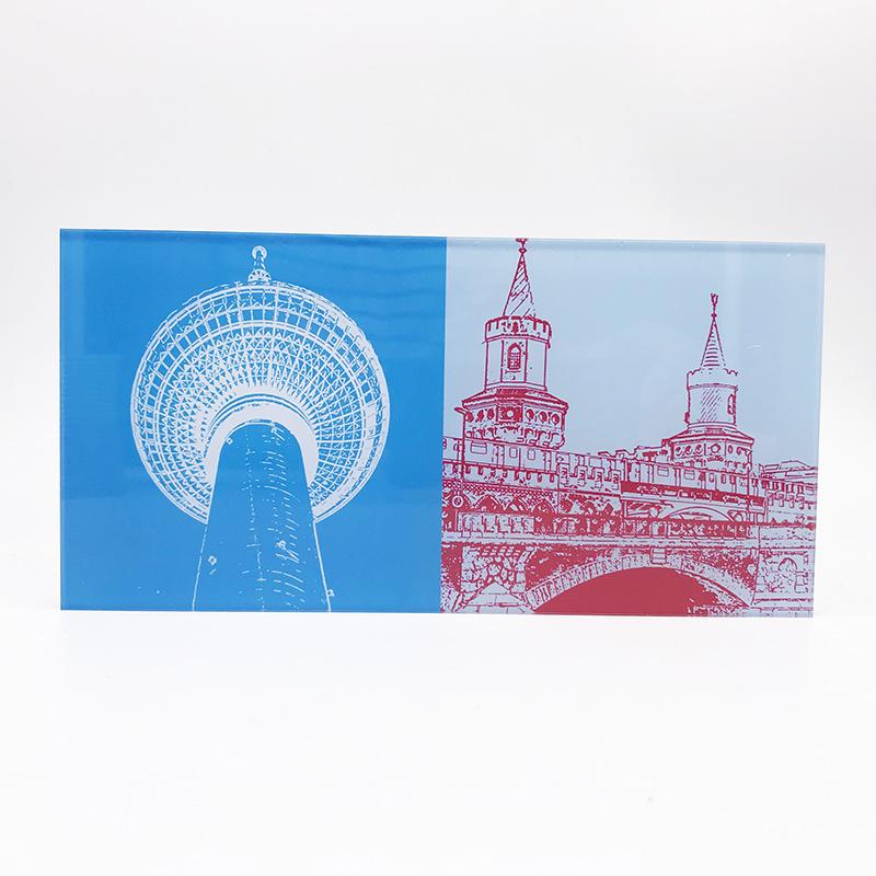 ART-DOMINO® BY SABINE WELZ Berlin - Fernsehturm + Oberbaumbrücke