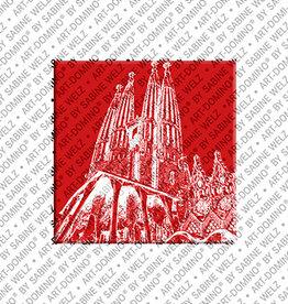 ART-DOMINO® by SABINE WELZ Magnet - BARCELONA - 05