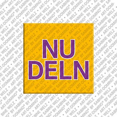 ART-DOMINO® BY SABINE WELZ Nudeln – Aimant avec Nudeln