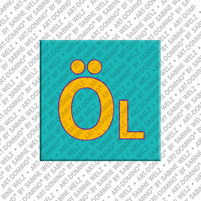 ART-DOMINO® by SABINE WELZ Öl – Aimant avec Öl