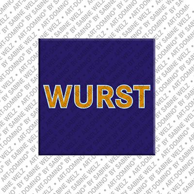 ART-DOMINO® by SABINE WELZ Wurst – Aimant avec Wurst