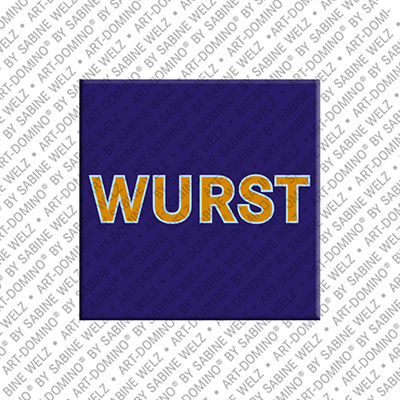 ART-DOMINO® by SABINE WELZ Wurst – Magnet mit Wurst