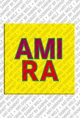 ART-DOMINO® by SABINE WELZ Amira - Aimant avec le nom Amira