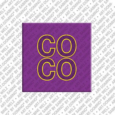 ART-DOMINO® by SABINE WELZ Coco - Magnet mit dem Vornamen Coco