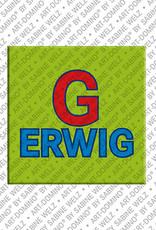 ART-DOMINO® by SABINE WELZ Gerwig - Magnet mit dem Vornamen Gerwig