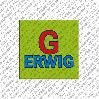 ART-DOMINO® BY SABINE WELZ Gerwig - Aimant avec le nom Gerwig
