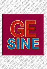 ART-DOMINO® BY SABINE WELZ Gesine - Magnet mit dem Vornamen Gesine