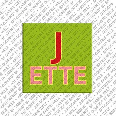 ART-DOMINO® by SABINE WELZ Jette - Aimant avec le nom Jette
