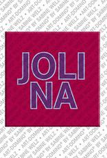 ART-DOMINO® BY SABINE WELZ Jolina - Magnet mit dem Vornamen Jolina