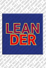 ART-DOMINO® by SABINE WELZ Leander - Aimant avec le nom Leander