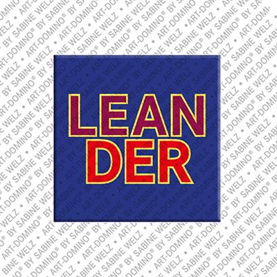 ART-DOMINO® by SABINE WELZ Leander - Magnet mit dem Vornamen Leander