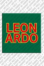 ART-DOMINO® by SABINE WELZ Leonardo - Aimant avec le nom Leonardo