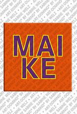 ART-DOMINO® by SABINE WELZ Maike - Magnet mit dem Vornamen Maike