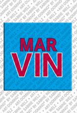 ART-DOMINO® BY SABINE WELZ Marvin - Aimant avec le nom Marvin