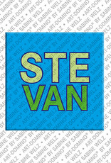ART-DOMINO® by SABINE WELZ Stevan - Magnet mit dem Vornamen Stevan