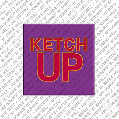 ART-DOMINO® BY SABINE WELZ Ketchup – Magnet mit Ketchup