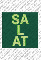 ART-DOMINO® by SABINE WELZ Salat – Magnet mit Salat