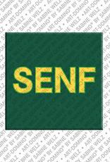ART-DOMINO® by SABINE WELZ Senf – Magnet mit Senf