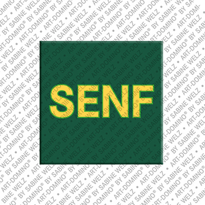 ART-DOMINO® by SABINE WELZ Senf – Aimant avec Senf