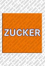 ART-DOMINO® by SABINE WELZ Zucker – Aimant avec Zucker