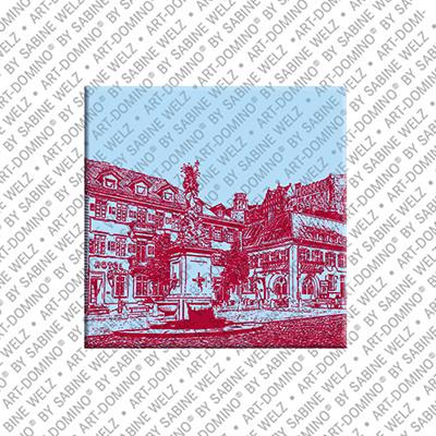 ART-DOMINO® by SABINE WELZ Heidelberg - Marktplatz/Kornmarkt