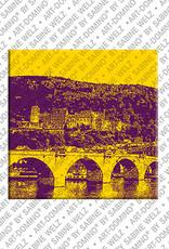 ART-DOMINO® BY SABINE WELZ Heidelberg – Alte Brücke