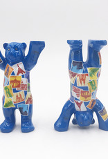 ART-DOMINO® by SABINE WELZ Buddy Bear avec des motifs europe - 6 cm