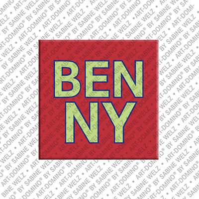 ART-DOMINO® BY SABINE WELZ Benny - Magnet mit dem Vornamen Benny