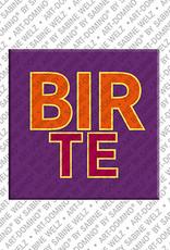 ART-DOMINO® BY SABINE WELZ Birte - Magnet mit dem Vornamen Birte