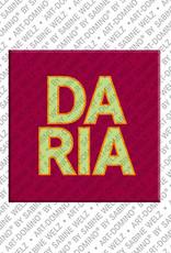 ART-DOMINO® BY SABINE WELZ Daria - Magnet mit dem Vornamen Daria
