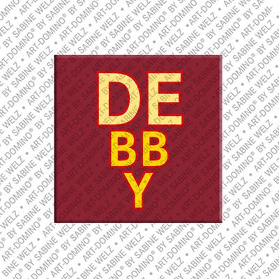 ART-DOMINO® by SABINE WELZ Debby - Magnet mit dem Vornamen Debby
