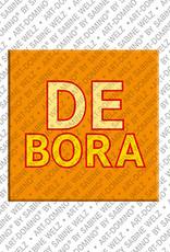 ART-DOMINO® BY SABINE WELZ Debora - Magnet mit dem Vornamen Debora