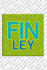 ART-DOMINO® by SABINE WELZ Finley - Magnet mit dem Vornamen Finley