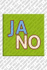ART-DOMINO® by SABINE WELZ Jano - Magnet mit dem Vornamen Jano