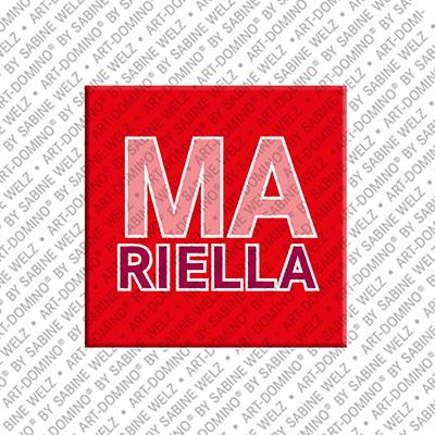 ART-DOMINO® by SABINE WELZ Mariella - Magnet mit dem Vornamen Mariella