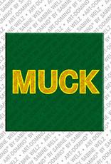 ART-DOMINO® BY SABINE WELZ Muck - Magnet mit dem Vornamen Muck