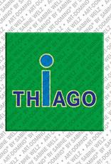 ART-DOMINO® BY SABINE WELZ Thiago - Magnet mit dem Vornamen Thiago