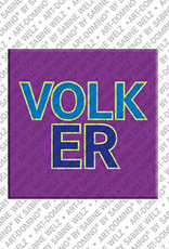 ART-DOMINO® BY SABINE WELZ Volker - Magnet mit dem Vornamen Volker