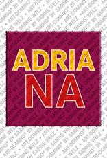 ART-DOMINO® by SABINE WELZ Adriana - Aimant avec le nom Adriana