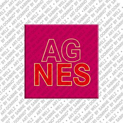 ART-DOMINO® by SABINE WELZ Agnes - Aimant avec le nom Agnes