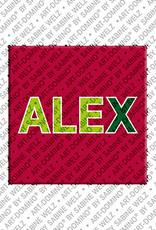 ART-DOMINO® by SABINE WELZ Alex - Aimant avec le nom Alex