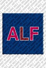 ART-DOMINO® by SABINE WELZ Alf - Aimant avec le nom Alf