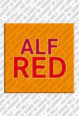 ART-DOMINO® BY SABINE WELZ Alfred - Magnet mit dem Vornamen Alfred