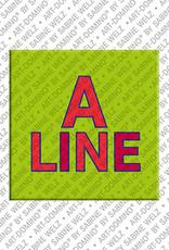 ART-DOMINO® BY SABINE WELZ Aline - Magnet mit dem Vornamen Aline