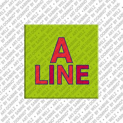 ART-DOMINO® by SABINE WELZ Aline - Aimant avec le nom Aline