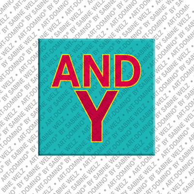 ART-DOMINO® BY SABINE WELZ Andy - Magnet mit dem Vornamen Andy