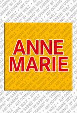 ART-DOMINO® BY SABINE WELZ Annemarie - Magnet mit dem Vornamen Annemarie